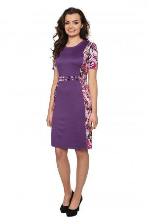 vaaudress.eu violetine suknelė margais šonais
