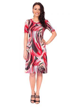 vaaudress.eu raudonų atspalvių platėjanti suknelė