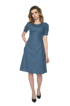 vaaudress.eu mėlyna medvilnės suknelė