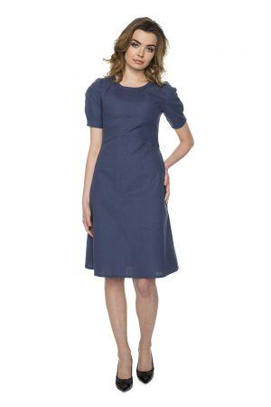 vaaudress.eu tamsiai mėlyna medvilnės suknelė