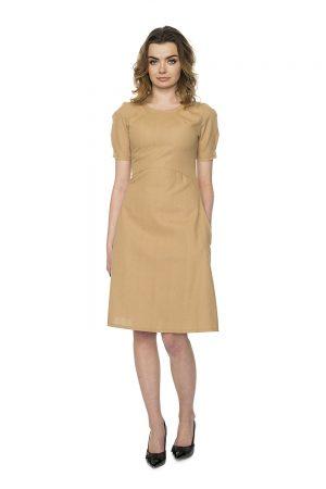 kreminė medvilnės suknelė