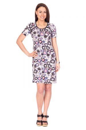 Vaaudress.eu violetinių raštų suknelė