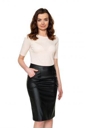 Dirbtinės odos sijonas