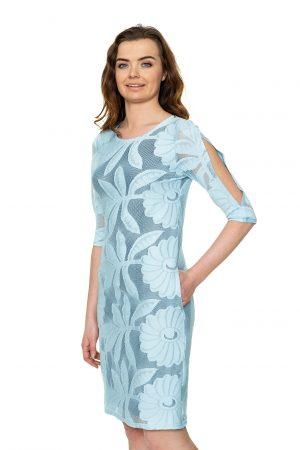 Žydra neriniuota suknelė