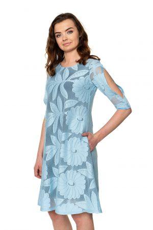 Žydra šventinė suknelė
