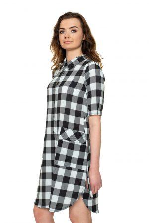 Languota marškinių tipo suknelė