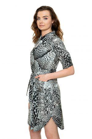 Pilka susagstoma suknelė