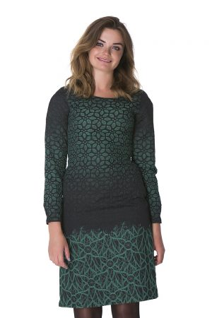 """Žalių raštų suknelė """"Elegancija"""""""