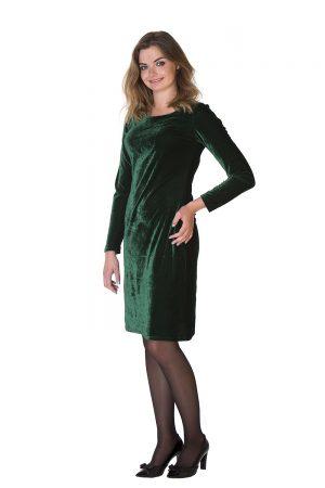 Žalia aksomo suknelė