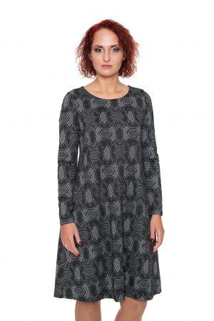 Pilka varpelio formos suknelė