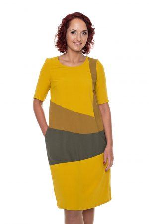 Geltona suknelė vasarai