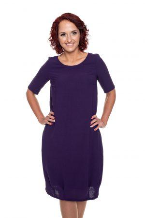 Tamsiai violetinė puošni suknelė