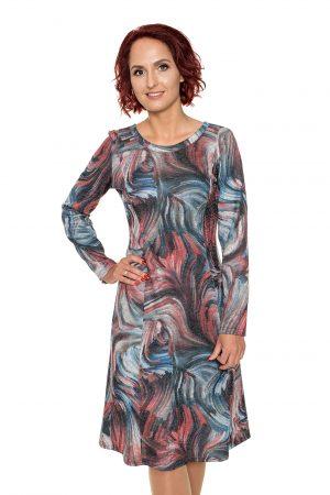 Marga platėjanti suknelė