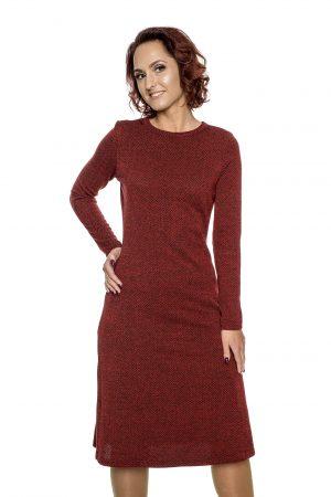 raudona platėjanti suknelė moterims