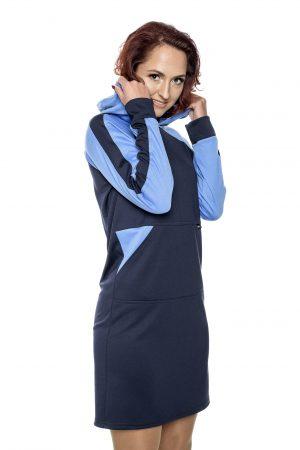 Tamsiai mėlyna sportinio stiliaus suknelė