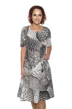 Pilkai maarga varpelio silueto suknelė